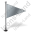 Map Marker Flag 1 Right Grey Icon, PNG/ICO, 64x64