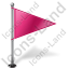 Map Marker Flag 1 Right Pink Icon, PNG/ICO, 64x64