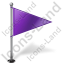 Map Marker Flag 1 Right Violet Icon
