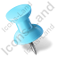 Map Marker Push Pin 1 Left Azure Icon, PNG/ICO, 64x64