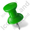 Map Marker Push Pin 1 Left Green Icon