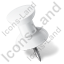 Map Marker Push Pin 1 Left White Icon, PNG/ICO, 64x64