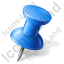 Map Marker Push Pin 1 Right Blue Icon
