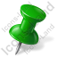 Map Marker Push Pin 1 Right Green Icon