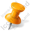Map Marker Push Pin 1 Right Orange Icon