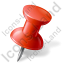 Map Marker Push Pin 1 Right Red Icon