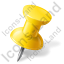 Map Marker Push Pin 1 Right Yellow Icon