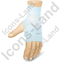Hand Injury Icon, PNG/ICO, 128x128