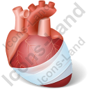 Heart Injury Icon, PNG/ICO, 128x128