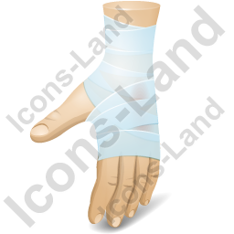 Hand Injury Icon, PNG/ICO, 256x256