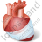 Heart Injury Icon, PNG/ICO, 48x48
