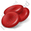 Blood Red Cells Icon, PNG/ICO, 64x64
