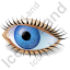 Eye Icon, PNG/ICO, 64x64