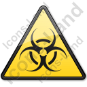 Biological Hazard Symbol Triangle Icon, PNG/ICO, 128x128