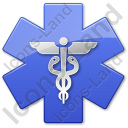 Caduceus Star Blue Symbol Icon, PNG/ICO, 128x128