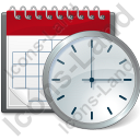Calendar Clock Icon, AI,