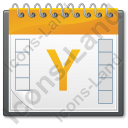 Calendar Year Icon, PNG/ICO, 128x128