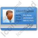 Doctor Identity Card Icon, AI,