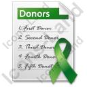 Donor List Document Icon, PNG/ICO, 128x128