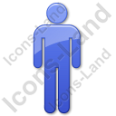 Gender Male Body Symbol Icon, PNG/ICO, 128x128