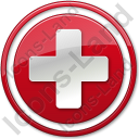 Hospital Cross Red Symbol Icon, AI,