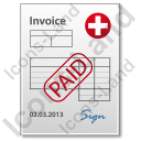 Invoice Paid Document Icon