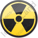 Ionizing Radiation Hazard Symbol Circle Icon