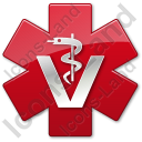 Rod Of Asclepius Veterinary Star Red Symbol Icon
