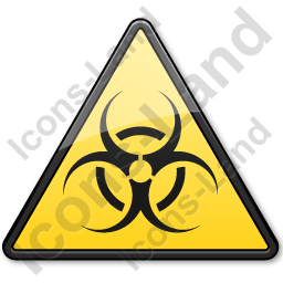 Biological Hazard Symbol Triangle Icon, PNG/ICO, 256x256