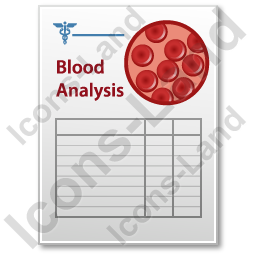Blood Analysis Document Icon
