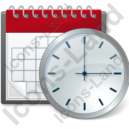 Calendar Clock Icon, AI, 256x256