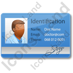 Doctor Identity Card Icon, AI, 256x256