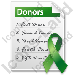 Donor List Document Icon, PNG/ICO, 256x256