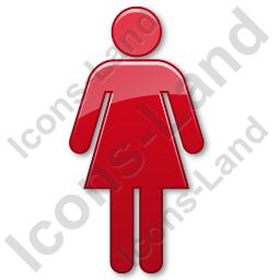 Gender Female Body Symbol Icon, PNG/ICO, 256x256