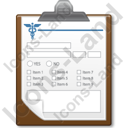 Medical Form Icon, AI, 256x256