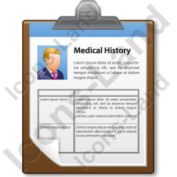 Medical History Icon, AI, 256x256