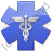 Caduceus Star Blue Symbol Icon, PNG/ICO, 48x48