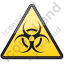 Biological Hazard Symbol Triangle Icon, PNG/ICO, 64x64