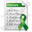 Donor List Document Icon, PNG/ICO, 64x64