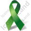 Organ Donation Green Ribbon Icon