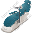 Dental Chair Icon, PNG/ICO, 128x128