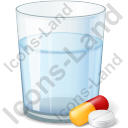 Glass Water Pills Icon
