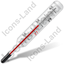 Medical Thermometer Mercury Icon