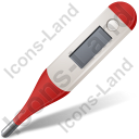 Medical Thermometer Red Icon