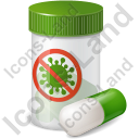 Medication Antiviral Icon, PNG/ICO, 128x128