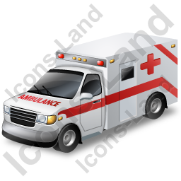 Ambulance Pickup Icon, PNG/ICO, 256x256