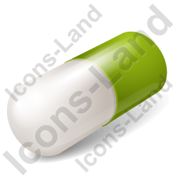 Capsule Green Icon, PNG/ICO, 256x256