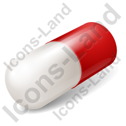 Capsule Red Icon, PNG/ICO, 256x256