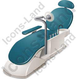 Dental Chair Icon, PNG/ICO, 256x256