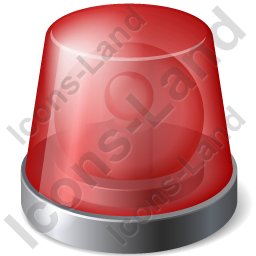 Emergency Lighting Red Icon